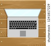 top view laptop computer on... | Shutterstock . vector #1241817229