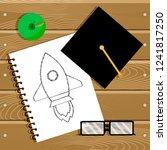 begin education and start... | Shutterstock . vector #1241817250