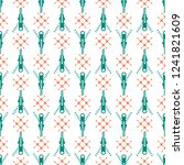 seamless pattern with zipper.... | Shutterstock .eps vector #1241821609