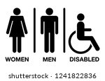 men and women disabled restroom ... | Shutterstock .eps vector #1241822836