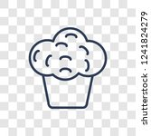 muffin icon. trendy linear...   Shutterstock .eps vector #1241824279