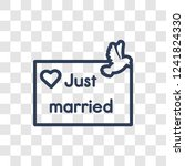 just married icon. trendy...   Shutterstock .eps vector #1241824330