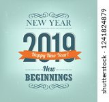 2019   calligraphic new year... | Shutterstock .eps vector #1241824879