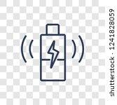 wireless charging icon. trendy...   Shutterstock .eps vector #1241828059