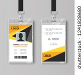 professional id card template... | Shutterstock .eps vector #1241828680