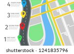 vector infographic with a road... | Shutterstock .eps vector #1241835796