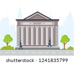 front view of court house or... | Shutterstock .eps vector #1241835799