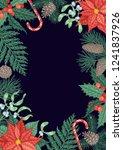 engraving christmas background... | Shutterstock .eps vector #1241837926