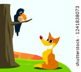 crow and fox fable vector... | Shutterstock .eps vector #1241838073
