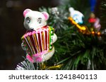 mouse plays the accordion... | Shutterstock . vector #1241840113