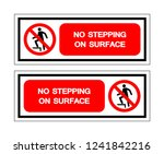 no stepping symbol sign  vector ... | Shutterstock .eps vector #1241842216