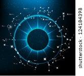 vector horoscopes bright stars... | Shutterstock .eps vector #124184398