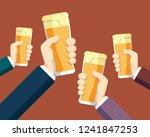 clinking beer glasses   Shutterstock .eps vector #1241847253