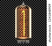 nixie tube indicator lamp with... | Shutterstock .eps vector #1241848909
