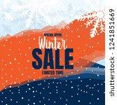 winter sale text  with dark... | Shutterstock .eps vector #1241851669