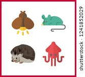 4 wildlife icon. vector... | Shutterstock .eps vector #1241852029