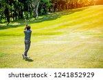 Golf Sport Concept Golfer Swing - Fine Art prints