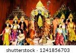 worship of goddess kali | Shutterstock . vector #1241856703