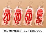 syber monday sale labels set  ... | Shutterstock .eps vector #1241857030