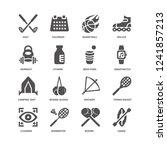 canoe  vitamin  golf  calendar  ... | Shutterstock .eps vector #1241857213