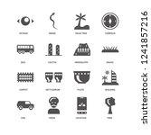 tree  grass  hieroglyph  car ...   Shutterstock .eps vector #1241857216