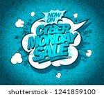 cyber monday sale poster design ... | Shutterstock .eps vector #1241859100