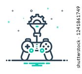 colorful icon for game... | Shutterstock .eps vector #1241861749