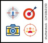 4 aiming icon. vector... | Shutterstock .eps vector #1241863150