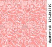 christmas symbols seamless... | Shutterstock . vector #1241868910