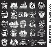 summer camp. vector. concept... | Shutterstock .eps vector #1241869300