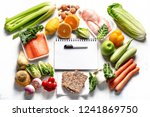 healthy eating plan. diet and... | Shutterstock . vector #1241869750