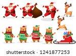 set of cartoon christmas... | Shutterstock .eps vector #1241877253