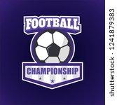 football championship badge ... | Shutterstock .eps vector #1241879383