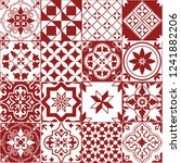 seamless pattern of tiles.... | Shutterstock .eps vector #1241882206