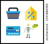 4 purchase icon. vector... | Shutterstock .eps vector #1241886583
