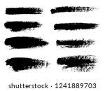 painted grunge stripes set.... | Shutterstock .eps vector #1241889703