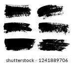 painted grunge stripes set.... | Shutterstock .eps vector #1241889706