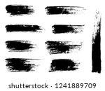 painted grunge stripes set.... | Shutterstock .eps vector #1241889709