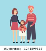 married couple with child | Shutterstock .eps vector #1241899816