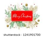 calligraphy inscription merry... | Shutterstock .eps vector #1241901700