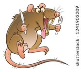 cartoon hungry evil rat with... | Shutterstock .eps vector #1241903209