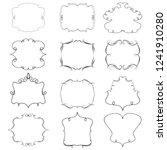 set of vector vintage frames on ... | Shutterstock .eps vector #1241910280
