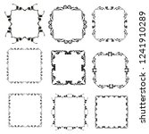 set of vector vintage frames on ... | Shutterstock .eps vector #1241910289