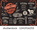 christmas menu template for... | Shutterstock .eps vector #1241916253