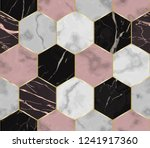 vector white  pink and black... | Shutterstock .eps vector #1241917360