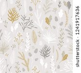 vector hand drawn floral... | Shutterstock .eps vector #1241917636