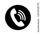 phone icon in black and white.... | Shutterstock .eps vector #1241918770