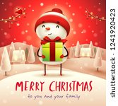 merry christmas  cheerful... | Shutterstock .eps vector #1241920423
