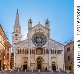 view at the facade of cathedral ... | Shutterstock . vector #1241924893