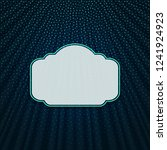beautiful frame on a dark blue... | Shutterstock .eps vector #1241924923